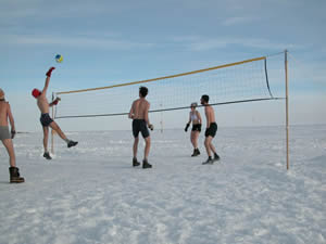 Volley Ball at -30C. Photo by: Patrick Kaufmann